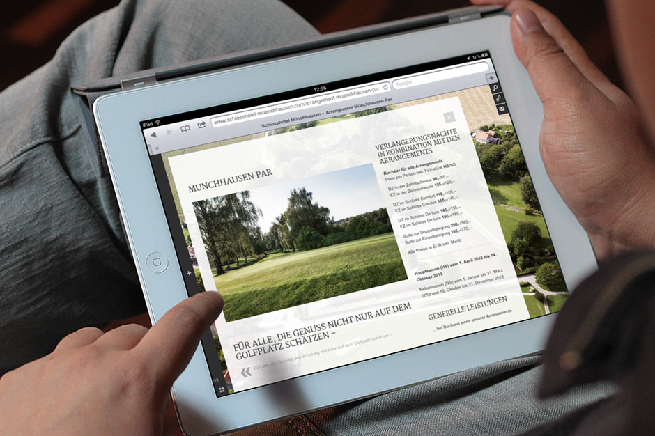 Schlosshotel Münchhausen Website 1