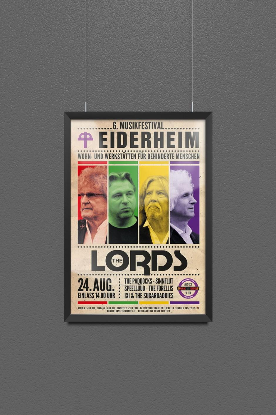 Landesverein für Innere Mission Schleswig-Holstein   Eiderheim 6. Musikfestival Poster 2